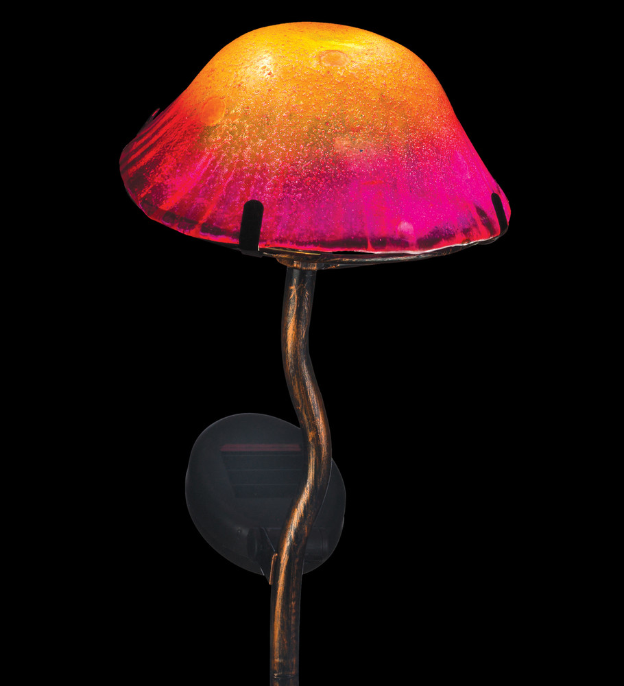 Mini Solar Mushroom Stake - Orange
