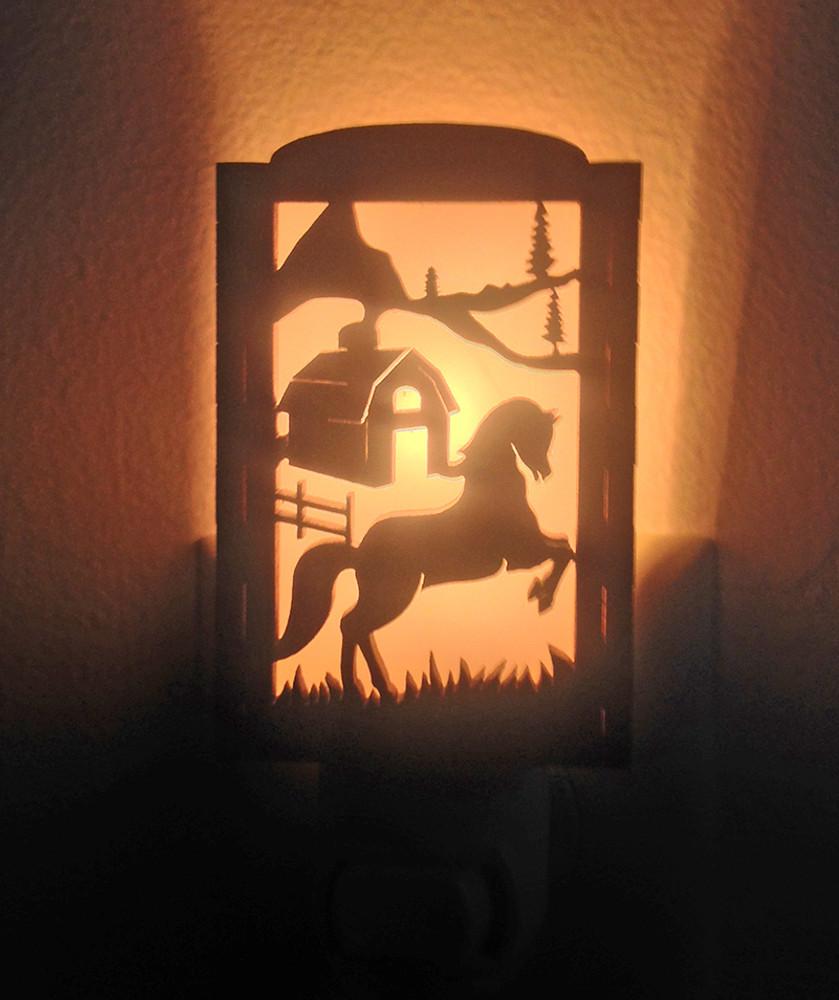 Wooden Night Lights - Horse