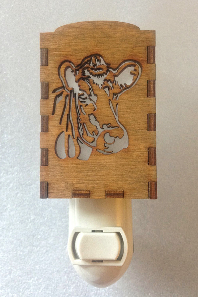 Wooden Night Lights - Cow