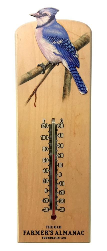 Almanac Wooden Songbird Thermometers