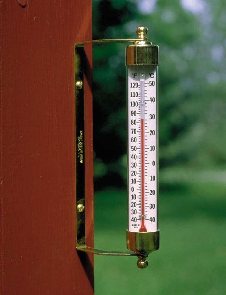 Original Vermont Outdoor Thermometer - Brass