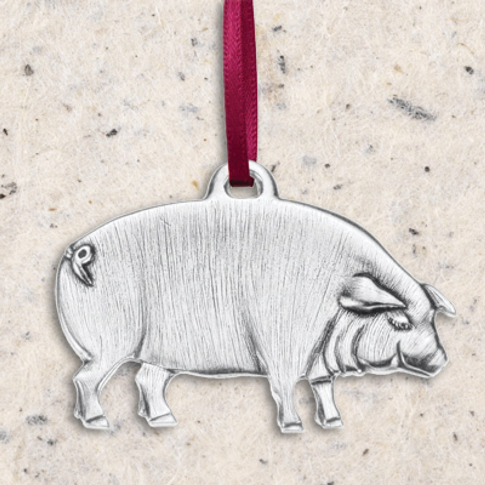 Pig Pewter Ornament