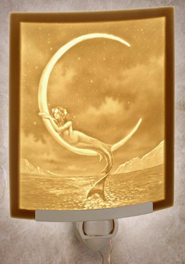 Lithophane Night Light - Mermaid & Moon