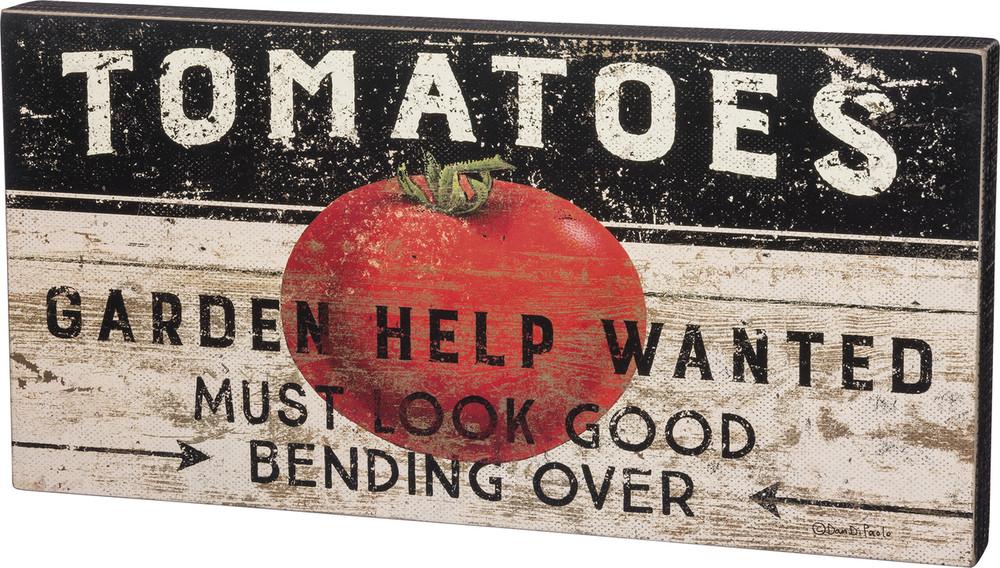 Box Sign - Tomato Help