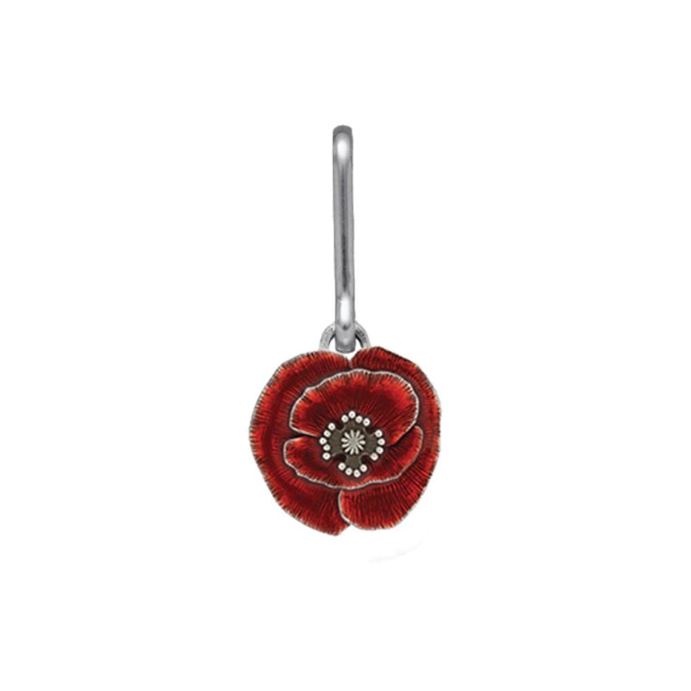 Remembrance Poppy Zipper Pull