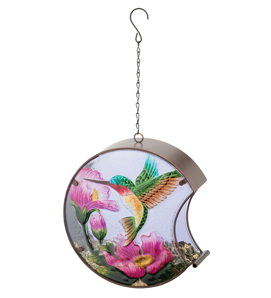 Hand-Painted Bird Feeder - Hummingbird