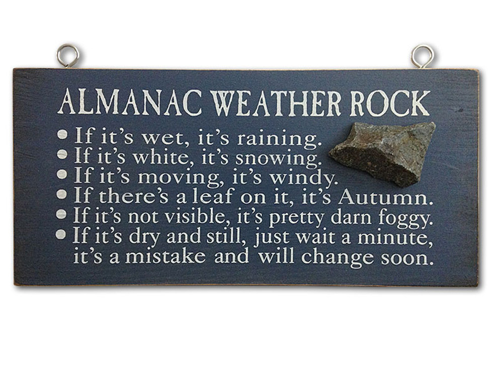 The Almanac Weather Rock