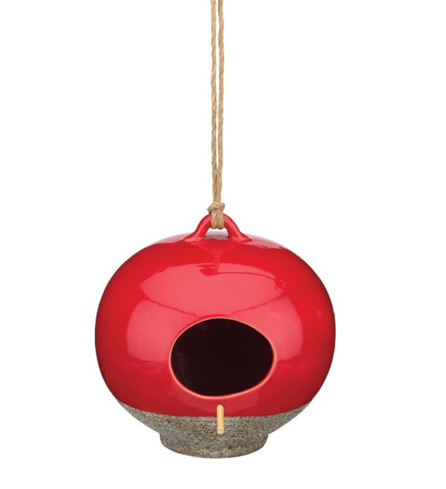 Ceramic Bird House - Cherry