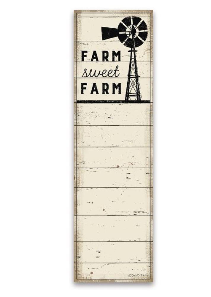 List Notepad - Farm Sweet Farm