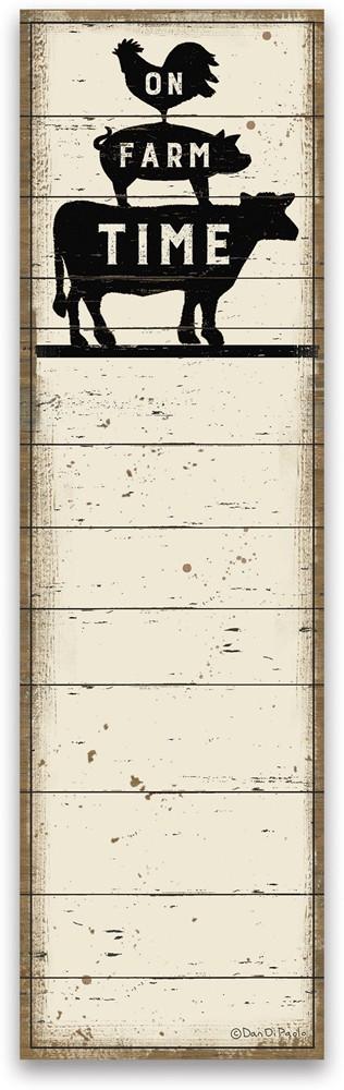 List Notepad - On Farm Time