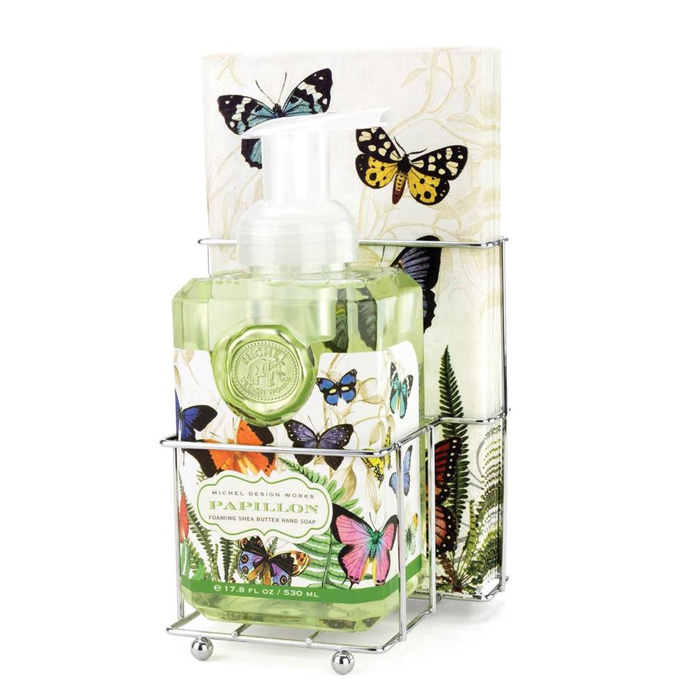 Papillon Foaming Hand Soap Napkin Set
