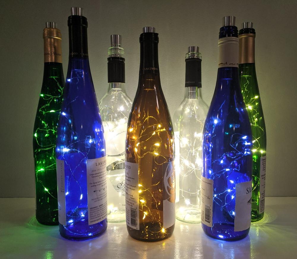 Wine Bottle Lights - White