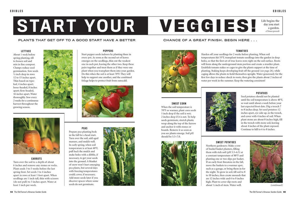 The Old Farmer's Almanac Garden Guide 2018 Print Edition