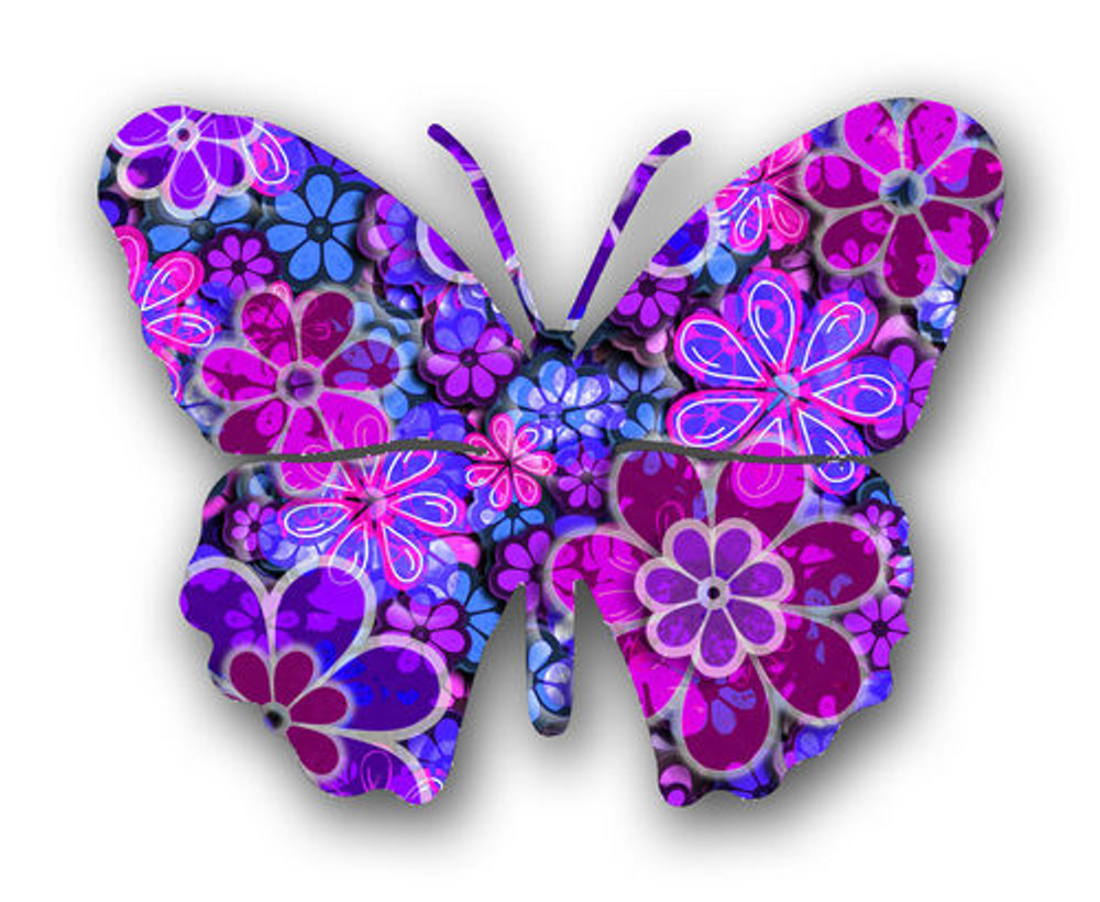 Steel Butterfly 3D Wall Art