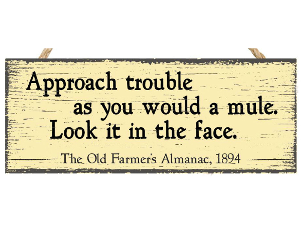 Almanac Wooden Sign - Advice from 1894