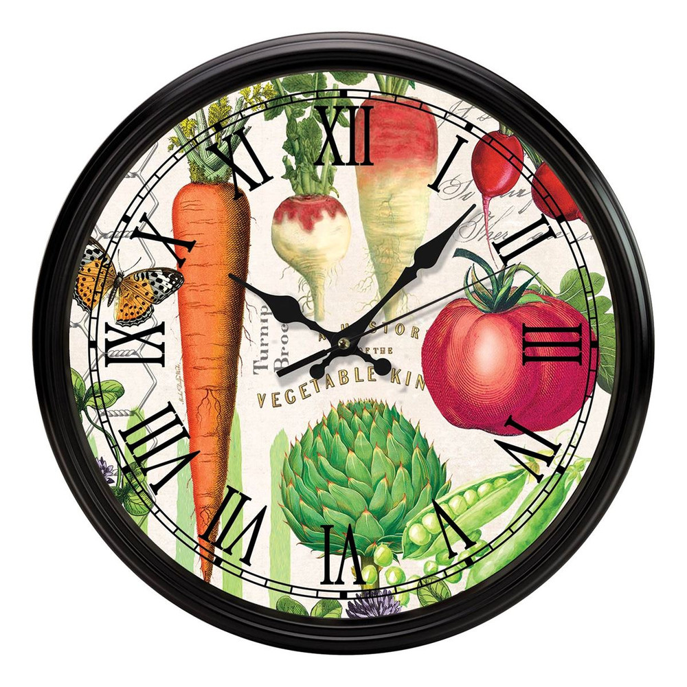 Vegetable Kingdom Kitchen Clock