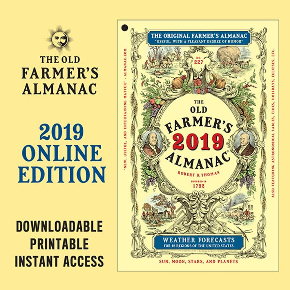 The 2019 Old Farmer's Almanac - Online Edition