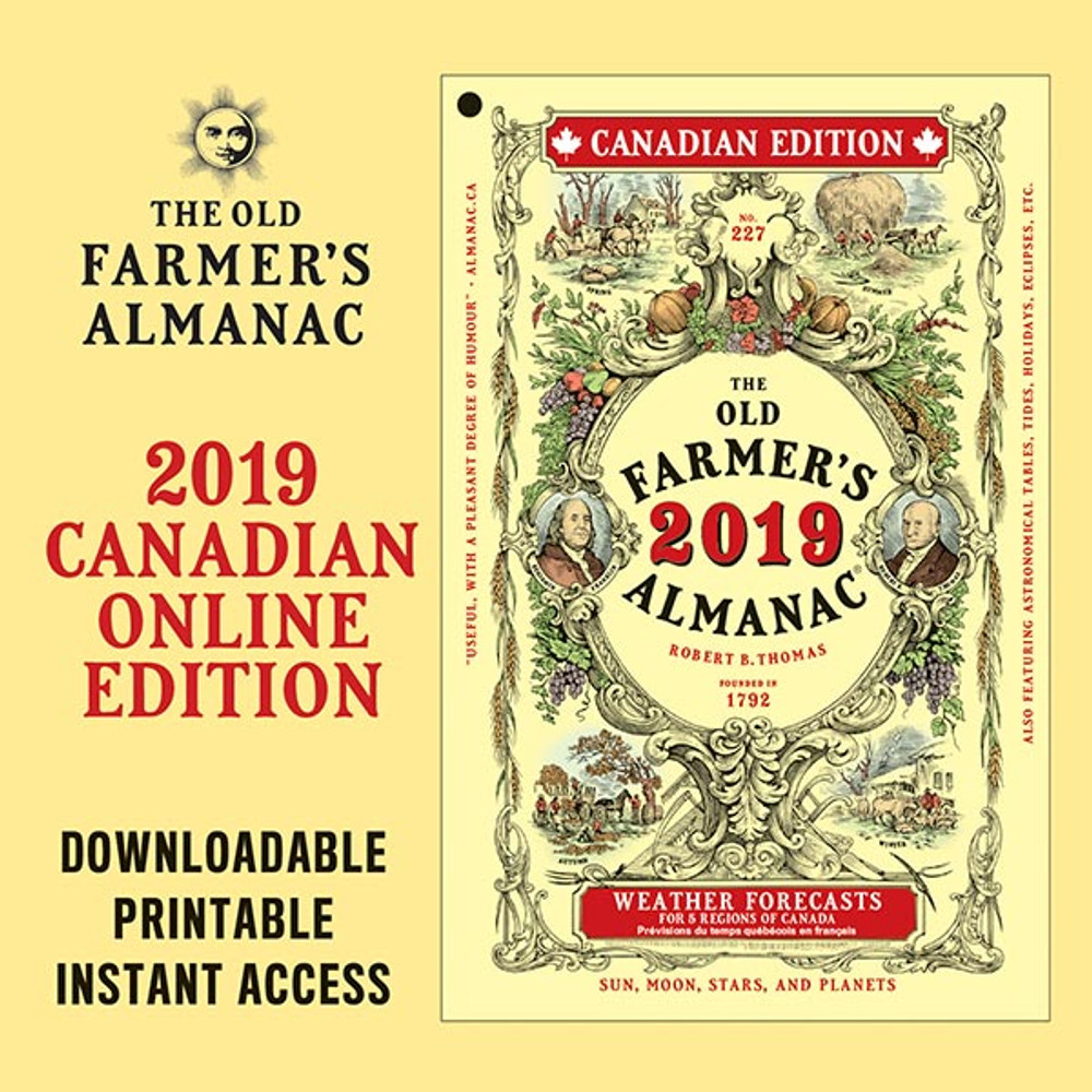 The 2019 Old Farmer's Almanac - Online Canadian Edition