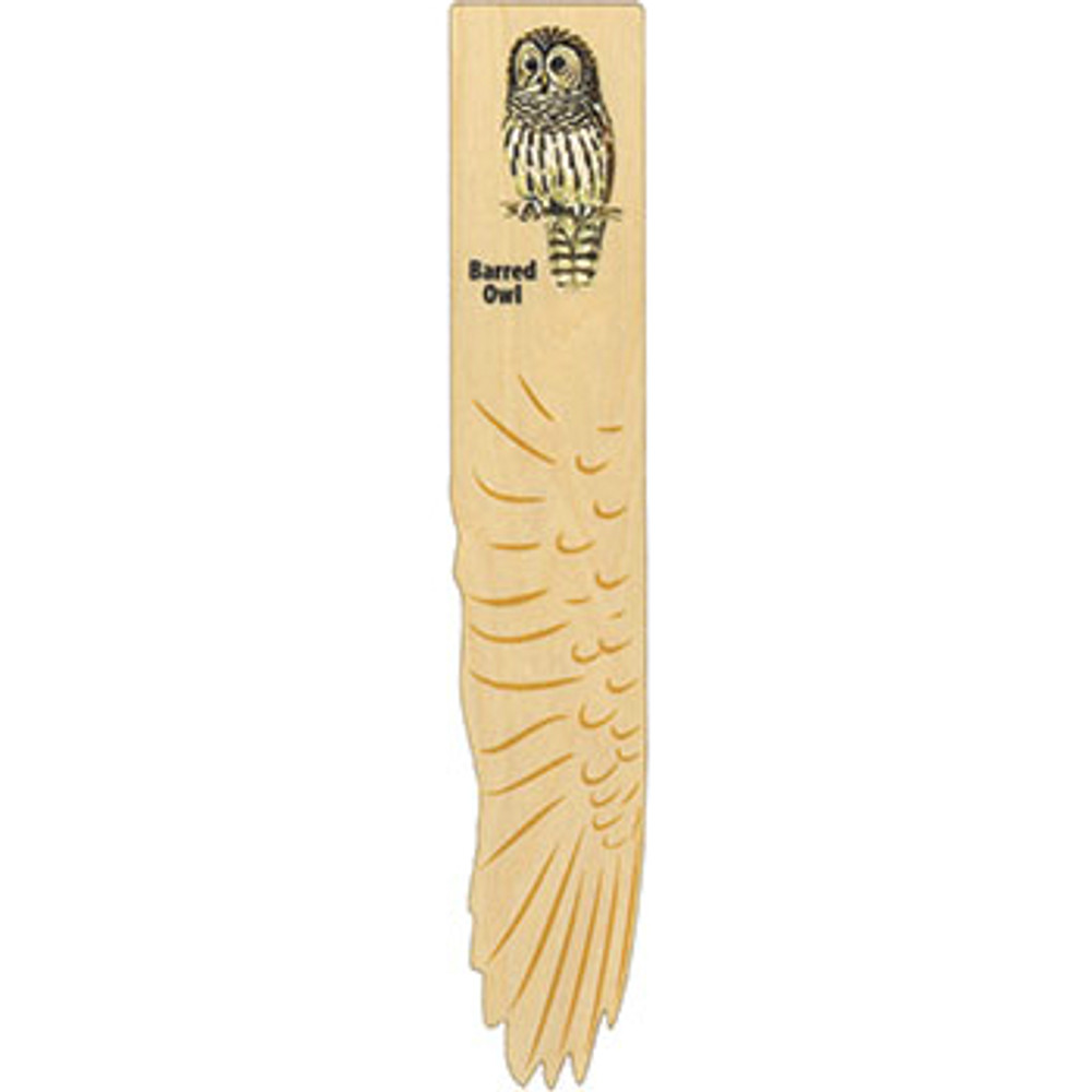 Barred Owl Wooden Wing Bookmark