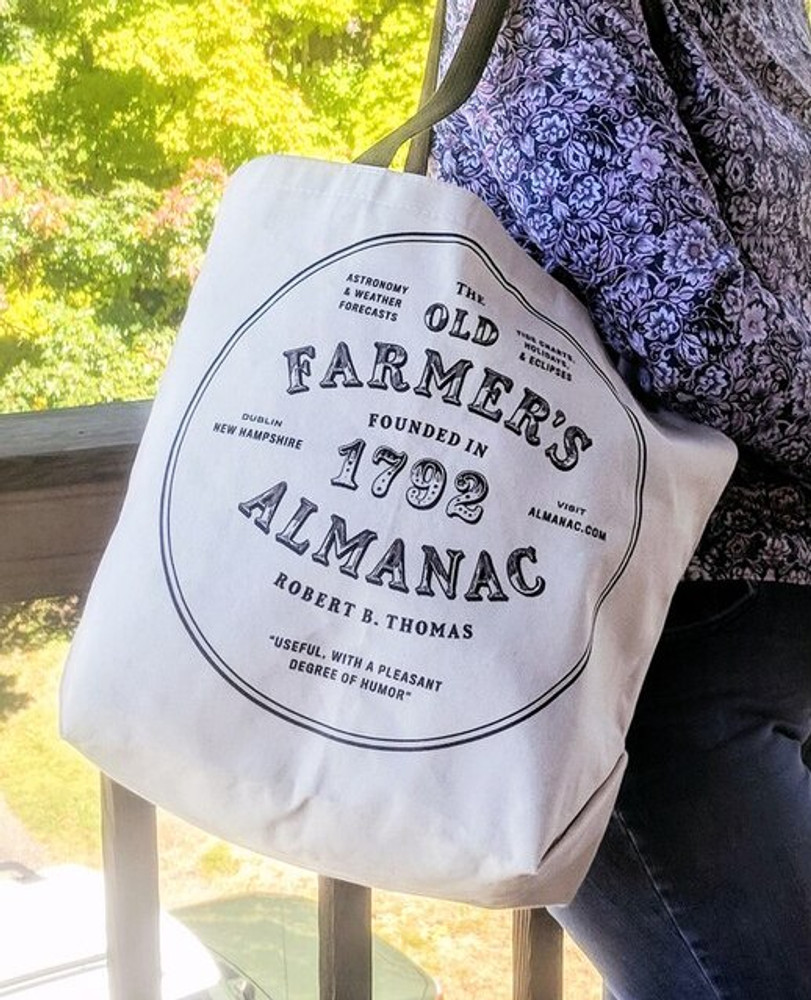 Farmer's Almanac Official Cotton Tote - Support Your Local Farmers
