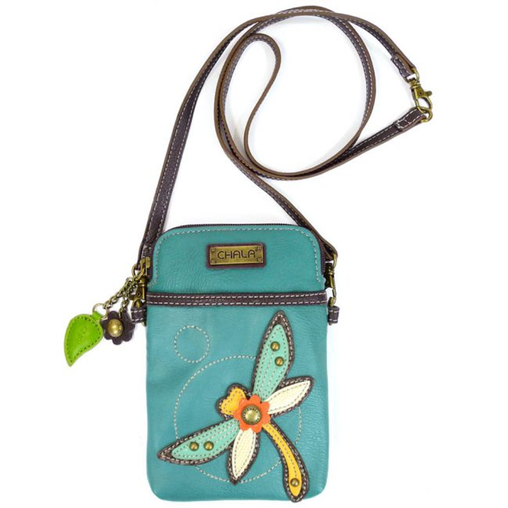 CELL PHONE PURSE WITH DRAGONFLY DESIGN
