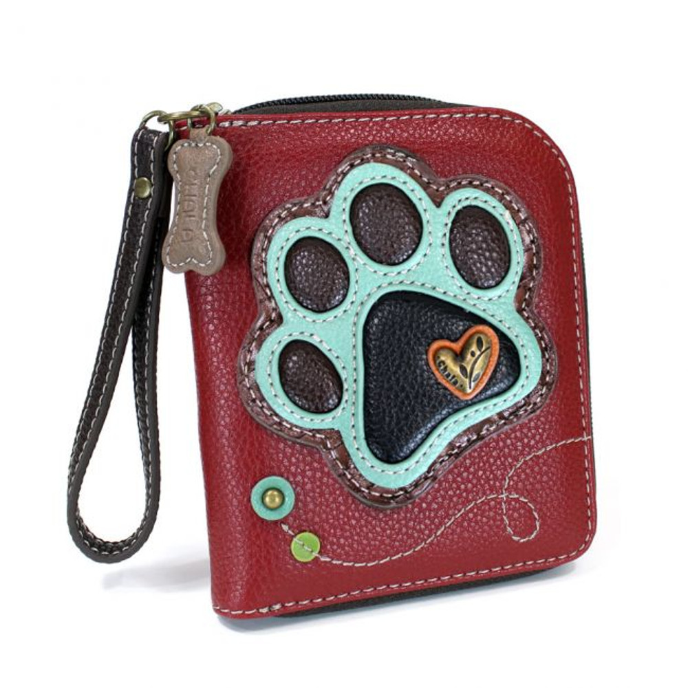 Zip Around Wallet - Paw Print