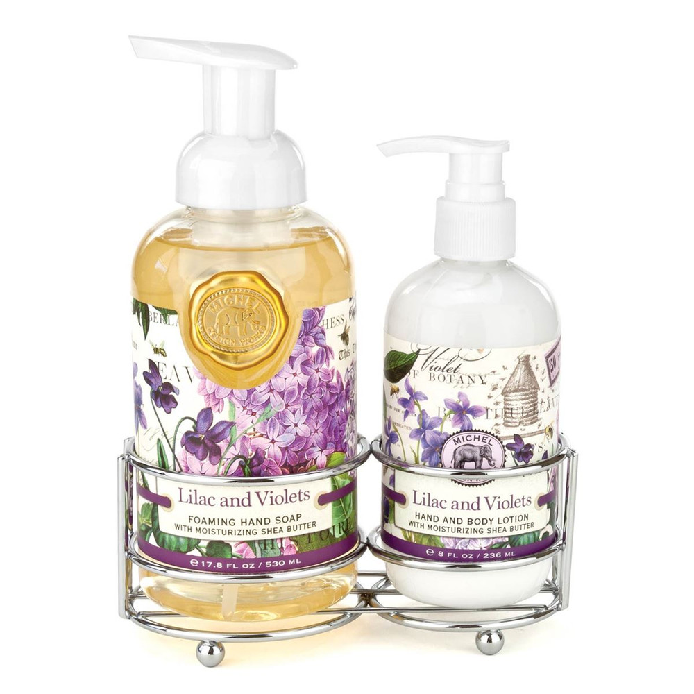 Lilac and Violets Handcare Caddy