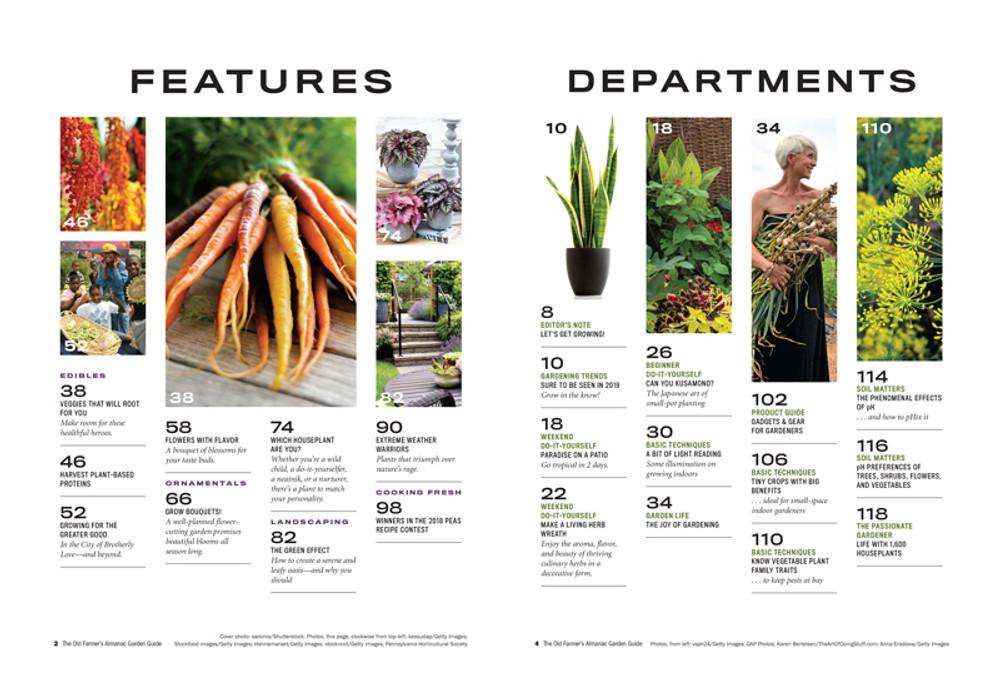 Almanac Garden Guide  - Table of Contents