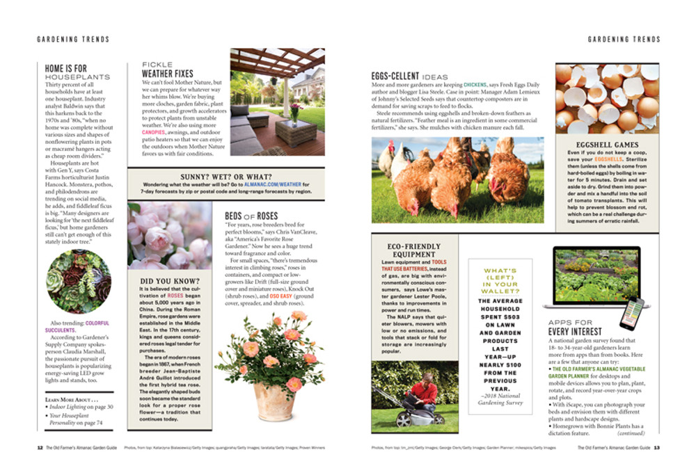 The Old Farmer's Almanac Garden Guide 2019 Print Edition
