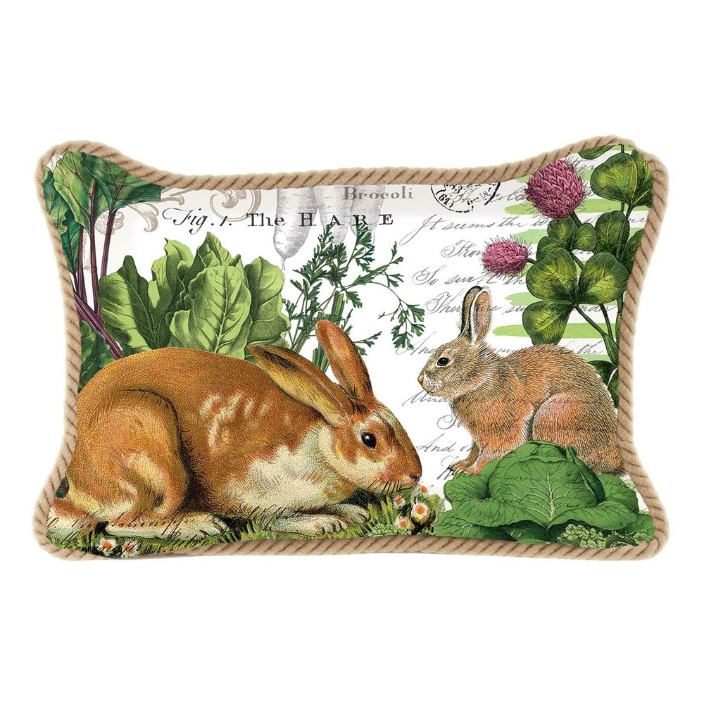 Garden Bunny Rectangular Pillow