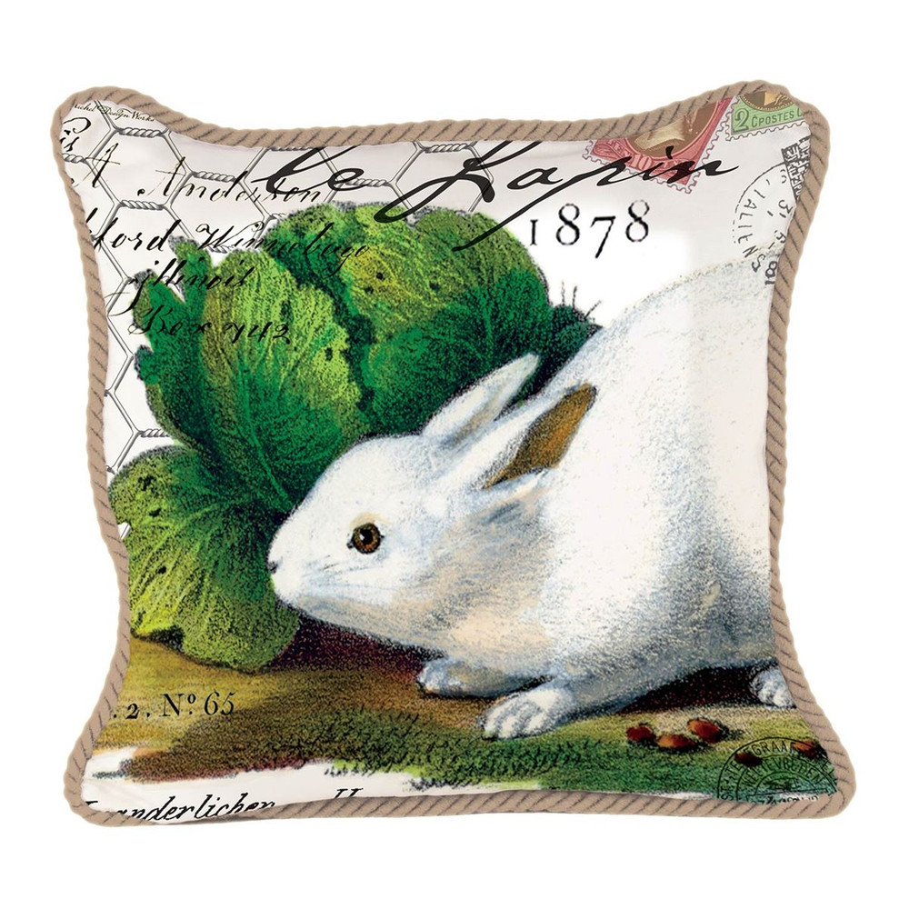Bunnies Square Pillow