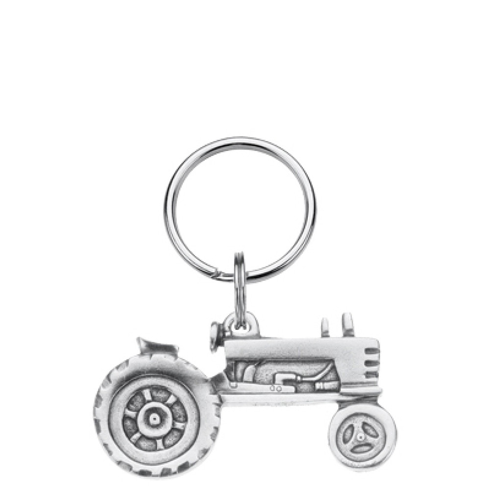 Tractor Pewter Key Ring