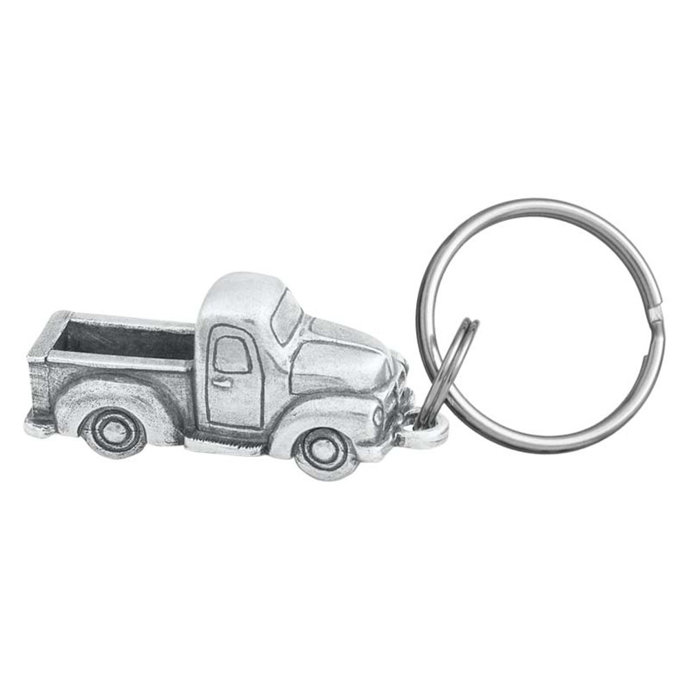 Old Pickup Truck Pewter Keyring