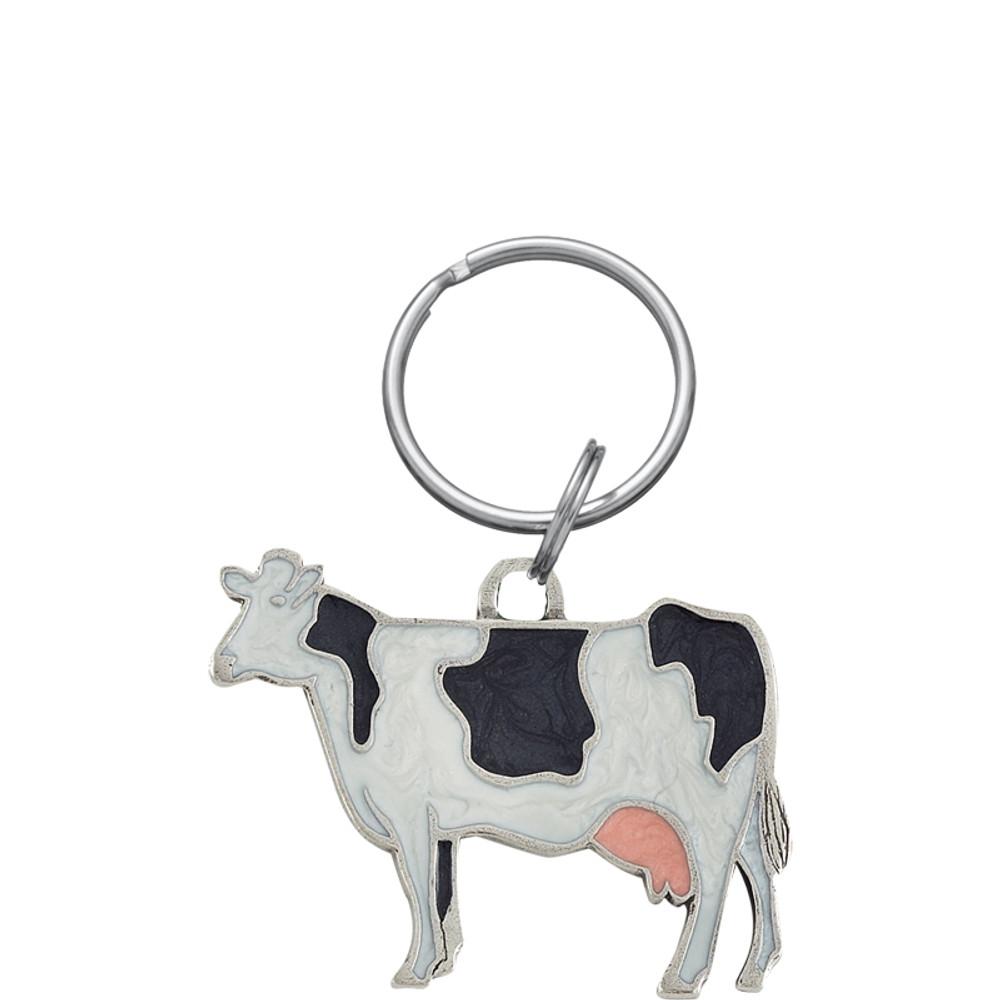 Holstein Cow Pewter Key Ring