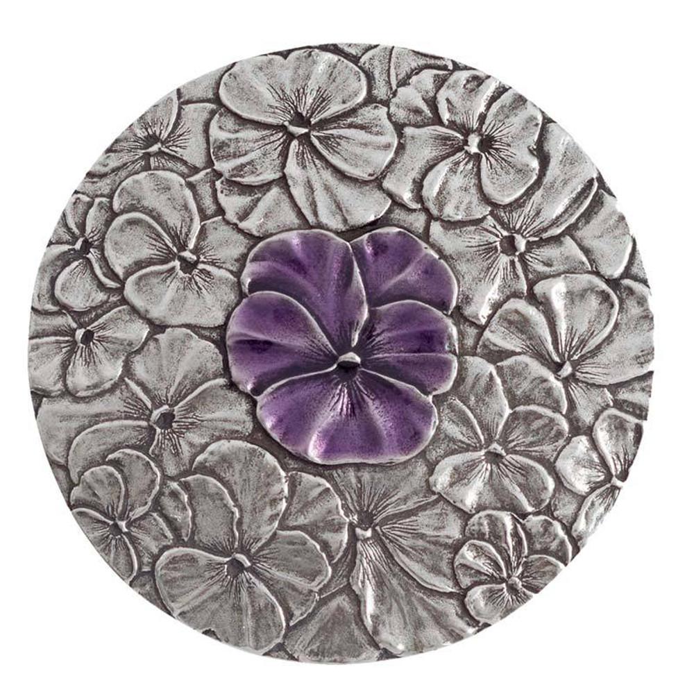 Purple Pansy Purse Mirror