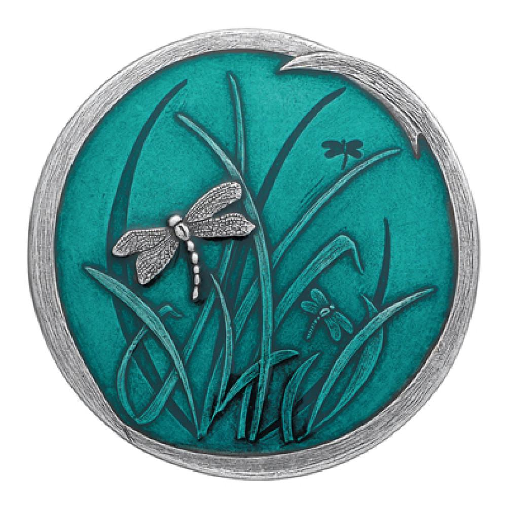 Teal Dragonfly Purse Mirror