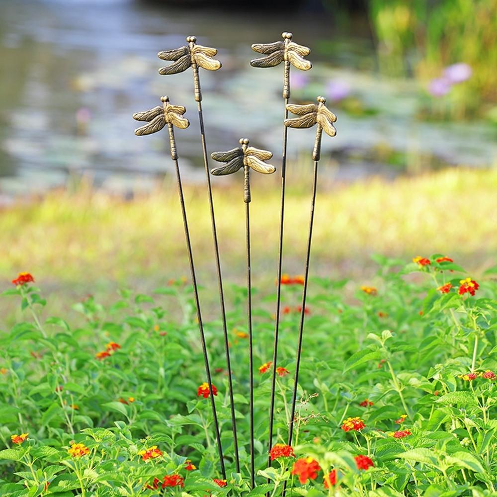 Dragonfly Garden Décor on Flexible Stakes