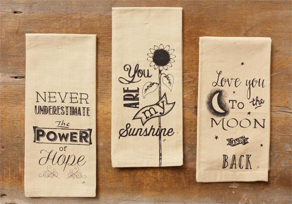 Tea Towel Set - Hope Sunshine Moon