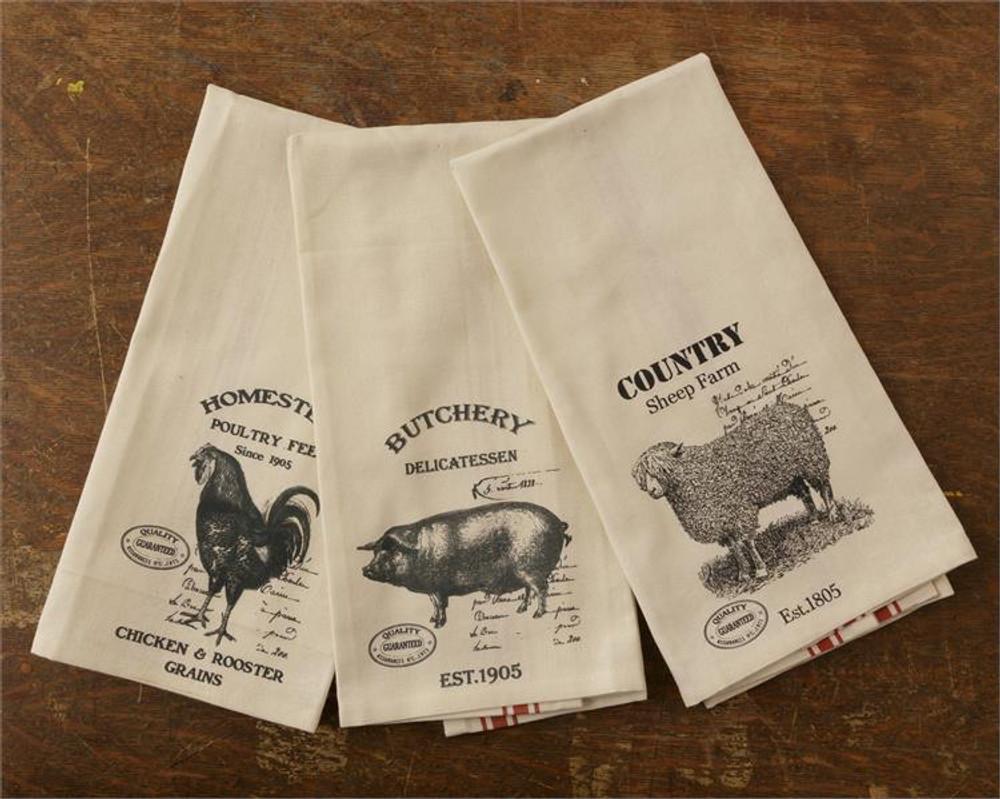Tea Towel Set of 3 - Farm Animals