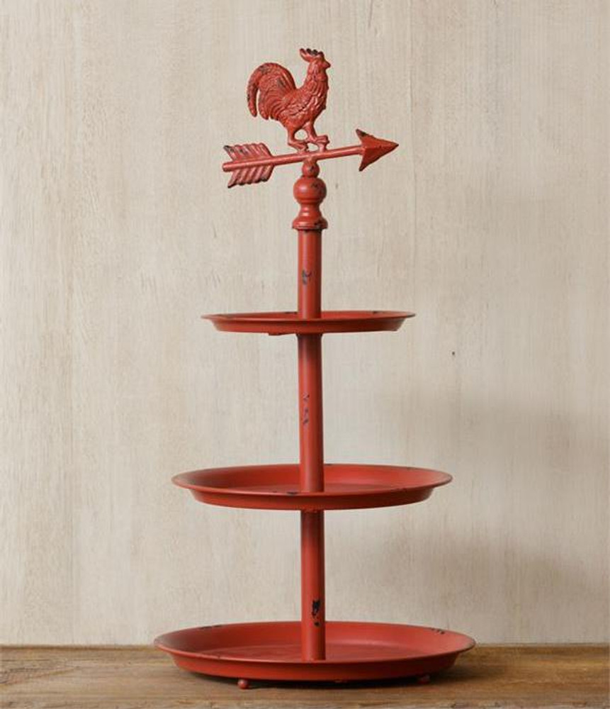 Iron Rooster Shelf Tiered