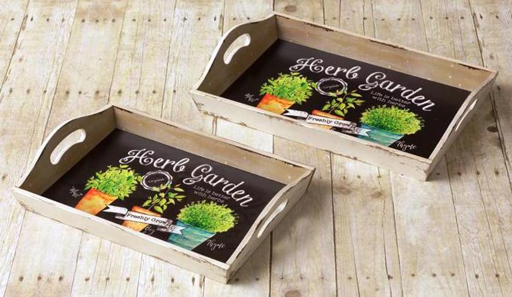 Herb Garden Tray Set