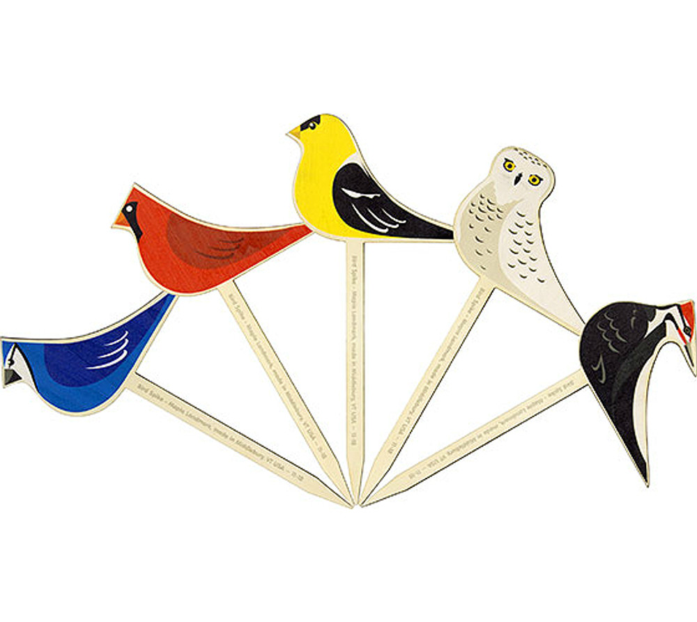Potted Plant Picks - Bird 5-Pack
