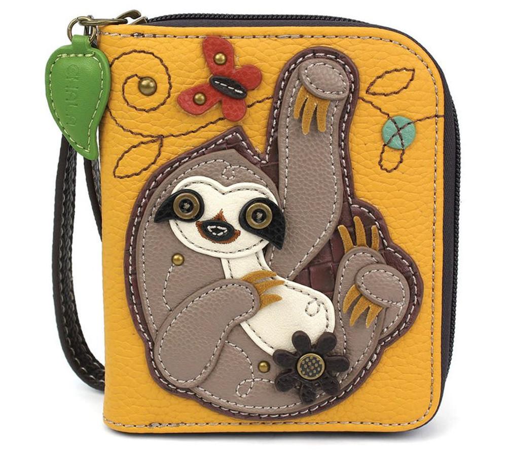 Zip Around Wallet - Sloth