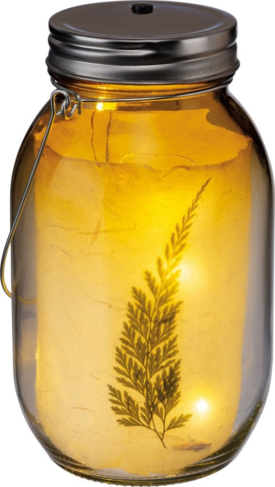 Mason Jar Light Set - Botanical