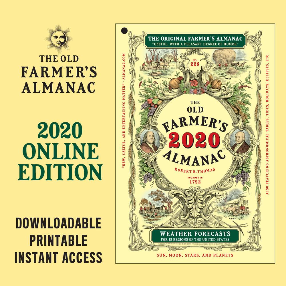 The 2020 Old Farmer's Almanac - Online Edition