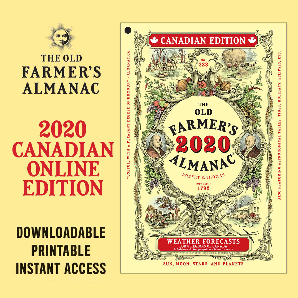 The 2020 Old Farmer's Almanac - Online Canadian Edition