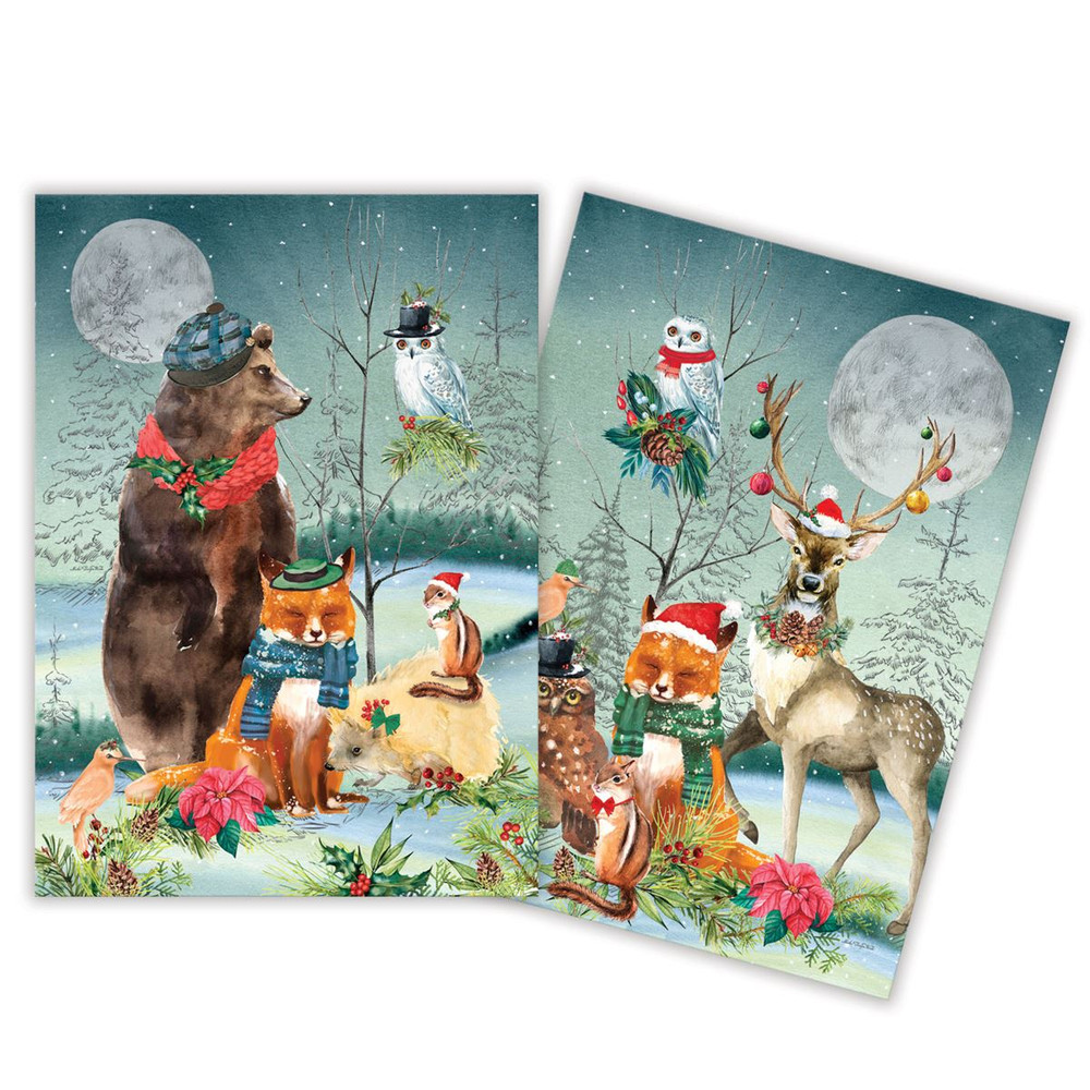Christmas Party Kitchen Towels - Set of 2