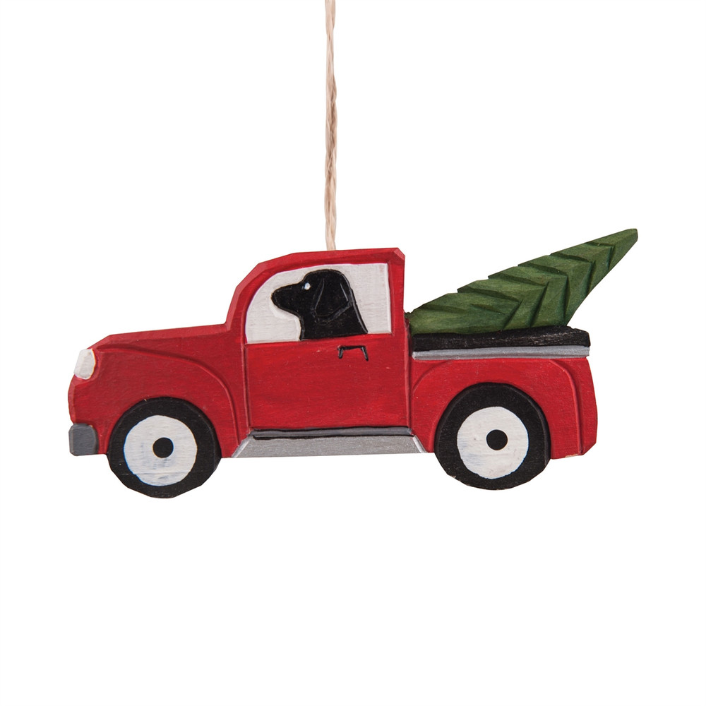 Labrador In A Farm Truck Ornament