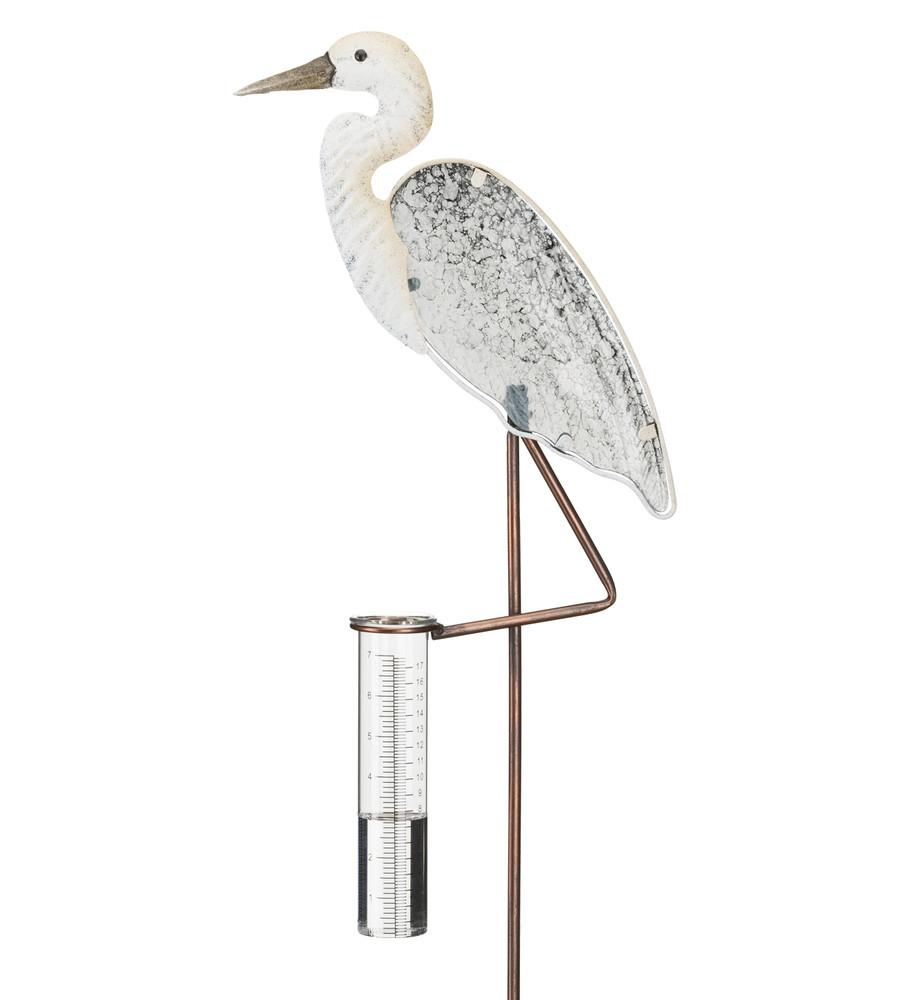 Rain Gauge Stake - Egret
