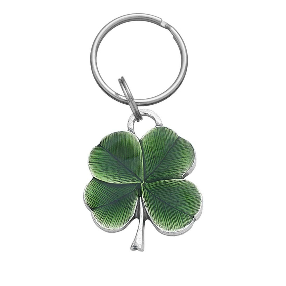 Lucky Clover Pewter Key Ring